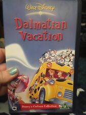 Walt Disney Dalmation Vacation Vhs Video  Rare Very Good Condition Animated