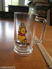"Winnie the Pooh vintage 1970's drinking glass tall mug 5.5"" NICE~!"
