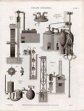 1818 Géorgien Imprimé~ Steam Moteurs ~ Kiers Saverys Blakeys Papins