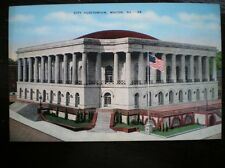 LINEN POSTCARD  USA MACON CITY AUDITORIUM GA