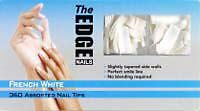 The Edge 360 assorted size FRENCH WHITE Nail Tip   OFFICIAL STOCKIST