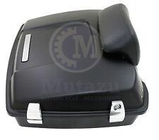 Matte Black Razor Tour Pak for Harley Davidson Touring Premium Hardware Latch