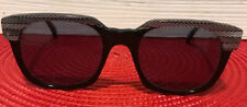 Vintage Lugene Client Sunglasses Black White Mother Of Pearl? Made In France Wow