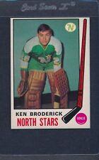 1969/70 O-Pee-Chee OPC #197 Ken Broderick North Stars EX/MT *7
