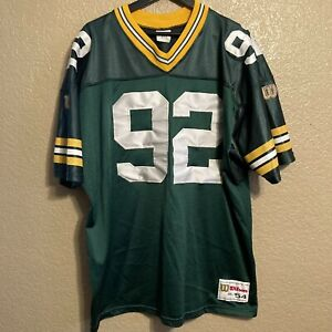 Vintage Reggie White #92 Green Bay Packers NFL Wilson Authentic Jersey 2XL USA