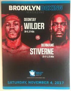 Deontay Wilder vs Bermane Stiverne 2 onsite program BROOKLYN BOXING