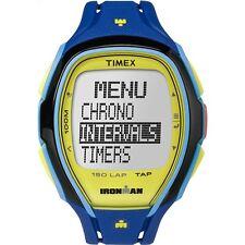 Timex Ironman Watch 150-Lap Blue Resin Strap Chronograph  TW5M00900CA {14-1}