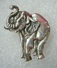 Finely detailed Sterling Silver Elephant brooch