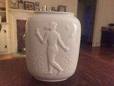 Royal Copenhagen Vase With Nude Young Man & Woman No. 4117