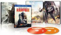 New Sealed Rampage (Dwayne Johnson) Steelbook Blu-ray + DVD + Digital