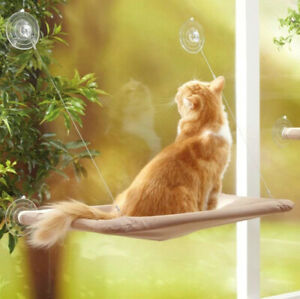 Cat Hanging Hammock Bed Window Soft Seat Mounted Pet Kitty Dog Pet With Cushion