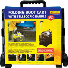 25kg Hand Trolley Folding Boot Cart Telescopic Handle Storage Shopping Black