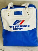 Vintage Retro Original Air France Airlines Crew Bag Hans Luggage Small Suitcase