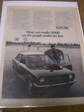 Original 1970 Toyota Corolla Magazine Ad - Most Cars Under $1800 ...