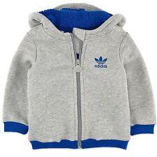 adidas bébé hiver OURSON VESTE garçons Douillette épais doublé gris bleu 104