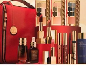 Estee Lauder Blockbuster  Holiday Gift Set w/Train Case COOL Value $440 NEW