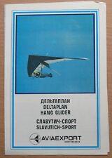An Russian Advertising Booklet Hang-glider Slavutich Air Antonov Delta plan AH
