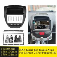 Car Radio Fascia for Toyota Aygo Citroen C1 Peugeot 107 2 Din Stereo Panel Frame