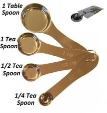 Stainless Steel 4pc Measuring Spoons SET Table/Tea for Accurate Cooking Baking