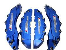 Dark Blue Brake Caliper Covers Car Disc Kit BMW Motorsport Logo F/Rear 4PCS L+M