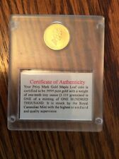 1999 Canada 1/10th 9999 GOLD $5 Maple Leaf Coin FAMILY PRIVY 100,000 mintage