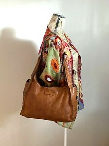 Frye Artisan Cognac/Brown Leather Hobo Shoulder Bag
