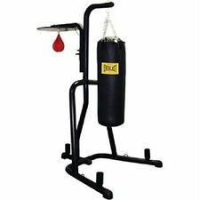 NO TAX! NEW Everlast Dual Station Heavy Punching Bag Boxing Stand MMA FAST SHIP!
