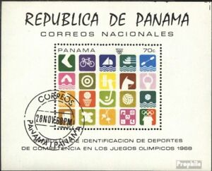 Panama block103 (complete issue) used 1968 olympic. Summer`68,
