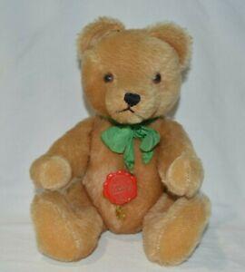 """Vintage Hermann Teddy Original 12"""" Brown Tan Jointed Bear West Germany"""