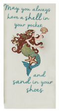 "Mermaid ""Sand in Your Shoes"" Flour Sack Cloth Kitchen Towel 100% Cotton"