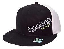 Reebok Hockey Houndstooth Script Logo Snapback Flat Bill Cap Hat