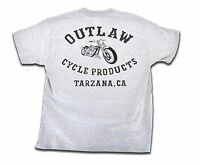 OUTLAW CYCLE PRODUCTS GRAY BIKER T-SHIRT