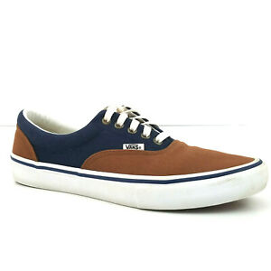 Vans Pro Off the Wall Skateboard Shoe Mens US 10 Navy Tan Lace Up