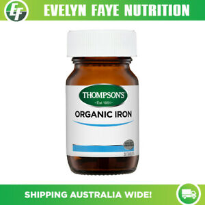 THOMPSON'S Organic Iron 24mg - 30 tablets | General Wellbeing