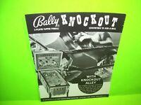 Bally Knockout 1970s Pinball Machine Black & White Pull Out Trade Magazine Ad