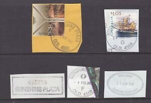 Queensland SUNSHINE PLAZA postmark group x 5 items