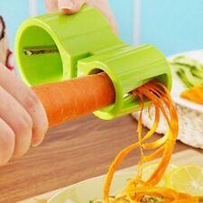 Rayador cortador en espiral de verduras con afilador de cuchillos microplane
