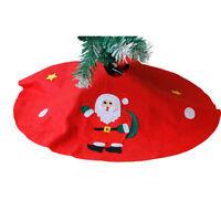 EG_ CHRISTMAS TREE FLOOR MAT SANTA SNOWMAN GROUND COVER APRON PARTY XMAS DECOR F