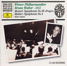 """MOZART: Symphonie No.38 """"Prager"""" MAHLER: Symphonie No.4 Bruno Walter CD, wie neu"""