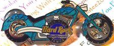 Seminole Hard Rock Cafe Tampa Hotel Casino 2004 Blue Flames Chopper # 2 Pin NEW