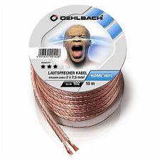 OEHLBACH 102 Speaker Wire SP-25 Stereo Lautsprecherkabel 10m glasklar 2x 2,5 mm²