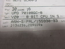 Upd70108gc-8 NEC upd70108 IC DIP40 16 - / 8 bit CPU MICROPROCESSORE UK STOCK