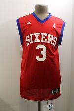 Vtg Adidas Philadelphia 76ers Mens M Red Sleeveless Basketball Jersey #3 Iverson
