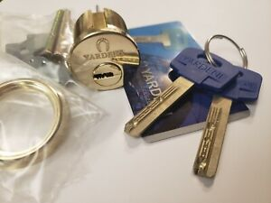 "Yardeni High Security Rim/Mortise Door Cylinder 1⅛"" GOLD Mul-t-lock KEYWAY"