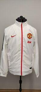 Nike Manchester United Mens Nylon Warm Up Training Jacket White Size L