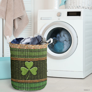 [Top-Selling IItem] Irish Wood Border All Over Printed Laundry Basket