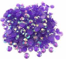 4000pcs Royal Purple AB 3mm Ss12 Flat Back Resin Rhinestones Diamante Gems C65