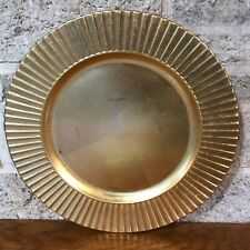 """SET OF NEW NWT LENOX GOLD FOIL CHARGER SERVICE PLATE RUFFLED SCALLOPED EDGES 13"""""""