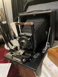 Antique Seneca No.7 Folding Camera in Carry Case With Negative Plates