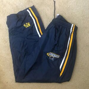 VTG 90s🏈SAN DIEGO CHARGERS NFL Football Track Pants Mens Size L Very Rare EUC